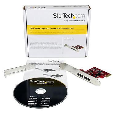 StarTech.com Carte contrôleur 2 ports SATA 6Gbps PCI Express eSATA pas cher