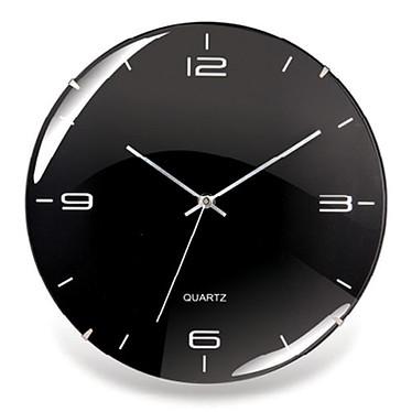 Orium Eleganta Noir Horloge murale silencieuse et bombée 29 cm de diamètre