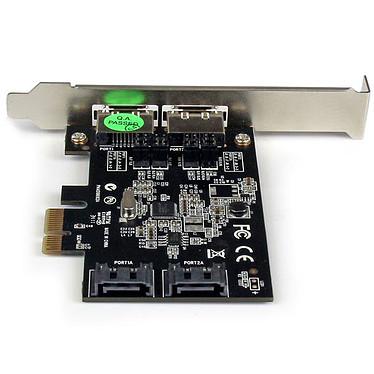 Acheter StarTech.com Carte contrôleur PCI-E avec 2 ports SATA III interne et 2 ports eSATA externe
