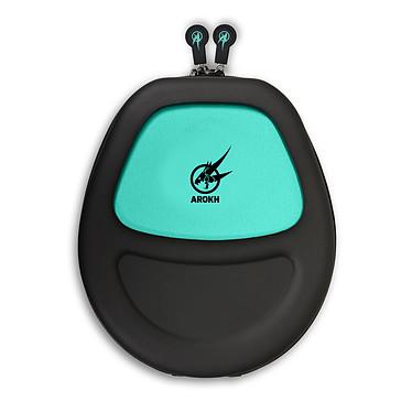 Arokh Headset Pouch (negro/verde) Maletín de transporte para auriculares