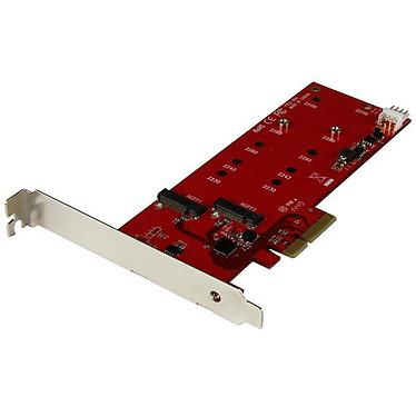 StarTech.com PEX2M2 Tarjeta controladora 2 SSD SATA M.2 NGFF en puerto PCI-Express