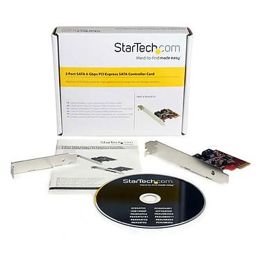 StarTech.com Carte contrôleur PCI-E SATA III (2 ports SATA 6Gb/s) pas cher