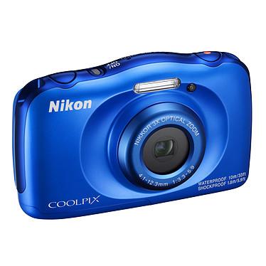 "Nikon Coolpix W100 Bleu Appareil photo 13.2 MP - Zoom optique 3x - Vidéo Full HD - USB - Ecran ACL TFT 2.7"" - Wi-Fi/Bluetooth/NFC - Boîtier étanche"