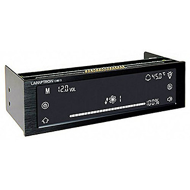 Lamptron CM615 Negro Bus de 6 canales con pantalla táctil y mando a distancia