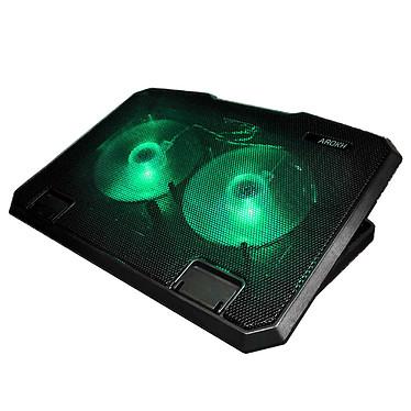 """Arokh Gaming Cooler Refrigerador líquido para ordenador portátil de 15,6"""" con 2 puertos USB y retroiluminación verde"""