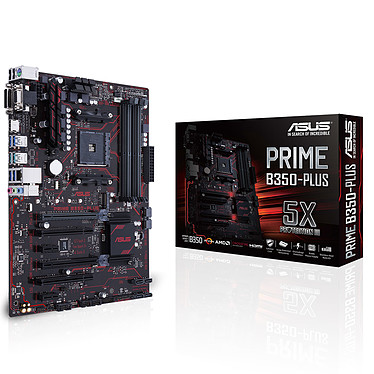 ASUS PRIME B350-PLUS Carte mère ATX Socket AM4 AMD B350 - 4x DDR4 - SATA 6Gb/s + M.2 - USB 3.1 - 2x PCI-Express 3.0 16x
