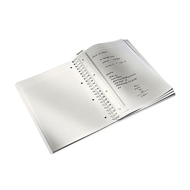 Avis Leitz WOW Cahier Spirale 160p A4 petits carreaux Bleu