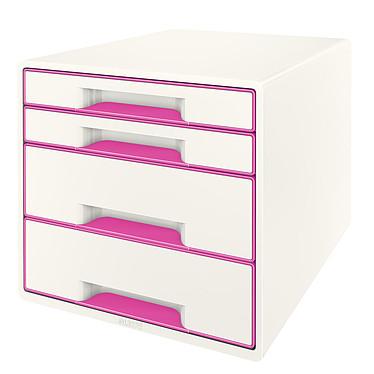 Leitz Bloc de classement à tiroirs WOW Rose Bloc de classement 4 tiroirs fermés coloris Rose