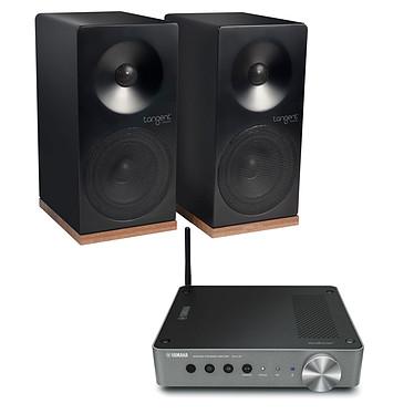 Yamaha MusicCast WXA-50 + Tangent Spectrum X4 Noir Passerelle MusicCast amplifiée Wi-Fi Bluetooth DLNA et AirPlay + Enceinte bibliothèque compacte (par paire)