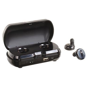 ClipSonic TES170 Écouteurs intra-auriculaires Bluetooth avec micro, boîtier de recharge et batterie de secours 3000 mAh intégrée