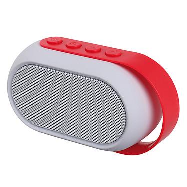 ClipSonic TES155 Rouge Enceinte Bluetooth 3W avec microphone intégré