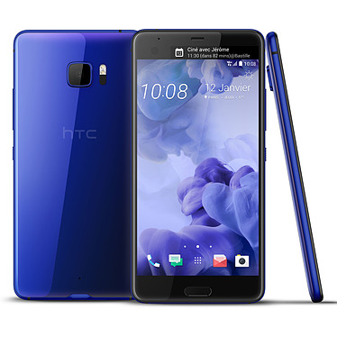 "HTC U Ultra Bleu Smartphone 4G-LTE Advanced - Snapdragon 821 Quad-Core 2.15 GHz - RAM 4 Go - Ecran tactile 5.7"" 1440 x 2560 - 64 Go - NFC/Bluetooth 4.2 - 3000 mAh - Android 7.0"