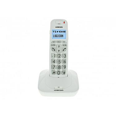 Logicom Confort 150 Blanc Téléphone DECT sans fil pour senior avec haut parleur (version française)