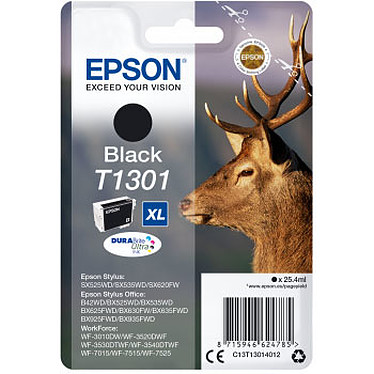 Epson Cerf T1301 XL Cartouche d'encre noire haute capacité (25.4 ml)