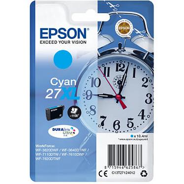 Epson Réveil 27XL Cyan Cartouche d'encre cyan haute capacité (1100 pages à 5%)
