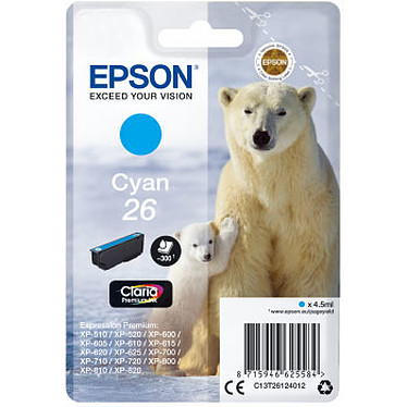 Epson Ours Polaire 26 Cyan Cartouche d'encre cyan (4.5 ml)