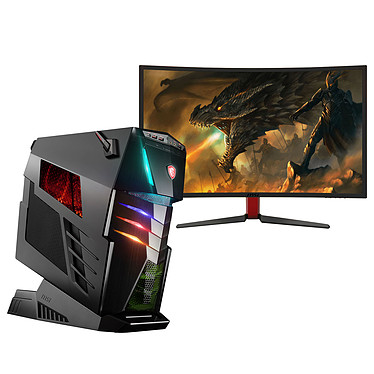 MSI Aegis Ti3 VR7RE-SLI-009EU + Ecran MSI Optix G27C OFFERT ! Intel Core i7-7700K 64 Go SSD 1 To (2x 512 Go) + HDD 3 To NVIDIA GeForce GTX 1080 8 Go SLI Graveur DVD Wi-Fi AC/Bluetooth Windows 10 Famille 64 bits