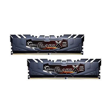 G.Skill Flare X Series 16 Go (2x 8 Go) DDR4 2400 MHz CL15 Kit Dual Channel 2 barrettes de RAM DDR4 PC4-19200 - F4-2400C15D-16GFX
