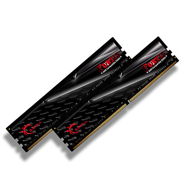 G.Skill Fortis Series 16 Go (2x 8 Go) DDR4 2400 MHz CL16 Kit Dual Channel 2 barrettes de RAM DDR4 PC4-19200 - F4-2400C16D-16GFT