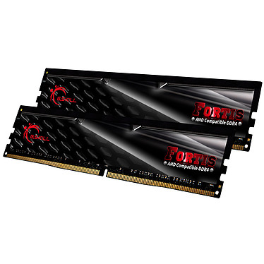 G.Skill Fortis Series 32 Go (2x 16 Go) DDR4 2400 MHz CL16 Kit Dual Channel 2 barrettes de RAM DDR4 PC4-19200 - F4-2400C16D-32GFT