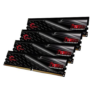 G.Skill Fortis Series 64 Go (4x 16 Go) DDR4 2400 MHz CL16 Kit Quad Channel 4 barrettes de RAM DDR4 PC4-19200 - F4-2400C16Q-64GFT