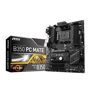 MSI B350 PC MATE Carte mère ATX Socket AM4 AMD B350 - 4x DDR4 - SATA 6Gb/s + M.2 - USB 3.0 - 1x PCI-Express 3.0 16x