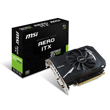 MSI GeForce GTX 1050 AERO ITX 2G OCV1 2048 Mo DVI/HDMI/DisplayPort - PCI Express (NVIDIA GeForce avec CUDA GTX 1050)