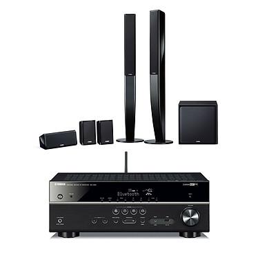 Yamaha RX-V481 Noir + NS-PA40 Ampli-tuner Home Cinéma 5.1 3D avec HDMI 2.0, HDCP 2.2, Ultra HD 4K, Wi-Fi, Bluetooth, AirPlay et MusicCast + Pack d'enceintes 5.1