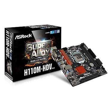 ASRock H110M-HDV R3.0 Carte mère Micro ATX Socket 1151 Intel H110 Express - SATA 6Gb/s - USB 3.0 - 1x PCI-Express 3.0 16x
