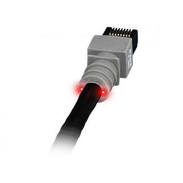 PatchSee câble RJ45 catégorie 6 U/UTP (4.9 mètres) Cordon ethernet blindé avec système de repérage lumineux