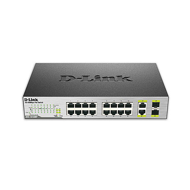 D-Link DES-1018MP Switch non manageable 16 ports 10/100 Mbps PoE + 2 x 10/100/1000BASE-T/SFP combo