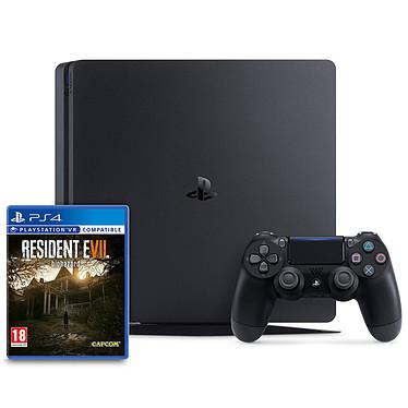 Sony PlayStation 4 Slim (500 Go) + Resident Evil VII : Biohazard Console de jeux-vidéo nouvelle génération avec disque dur 500 Go et manette sans fil + Resident Evil VII : Biohazard