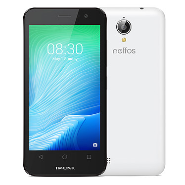 "Neffos Y50 Blanc Perle Smartphone 4G-LTE Dual SIM - Snapdragon 210 Quad-Core 1.1 GHz - RAM 1 Go - Ecran tactile 4.5"" 480 x 854 - 8 Go - Bluetooth 4.1 - 2020 mAh - Android 6.0"
