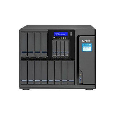 """QNAP TS-1685-D1521-32G Servidor NAS 16 ranuras (12 HDD/SSD 2,5/3,5 + 4 SSD 2,5"""") con 32 GB de RAM y procesador Quad-Core Intel Xeon G-1521 2.4 GHz (sin disco duro)"""