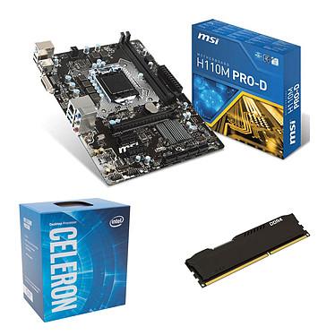 Kit Upgrade PC Celeron G3930 MSI H110M PRO-D 4 Go Carte mère Micro ATX Socket 1151 Intel H110 Express + CPU Intel Celeron G3930 (2.9 GHz) + RAM 4 Go DDR4