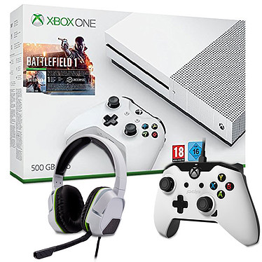 Microsoft Xbox One S (500 Go) + Battlefield 1 + 2 Accessoires OFFERTS !