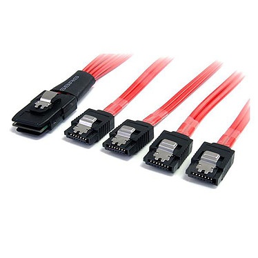 StarTech.com SAS8087S4100 Câble miniSAS (SFF-8087) vers 4x SATA (7 broches) à verrouillage - 1 m