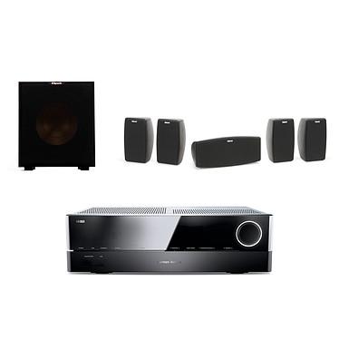 Harman Kardon AVR 171S + Klipsch Quintet + Klipsch R-10SW Amplificateur 7.2 - 100 W DLNA Bluetooth Spotify HDMI + Pack d'enceintes 5.0 + Subwoofer 150 Watts