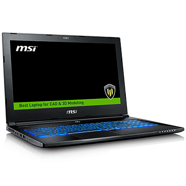"MSI WS60 7RJ-679FR Intel Xeon E3-1505M v6 16 Go SSD 256 Go (2x 128 Go) + HDD 1 To 15.6"" LED Ultra HD NVIDIA Quadro M2200 4 Go Wi-Fi AC/Bluetooth Webcam Windows 10 Professionnel 64 bits (garantie constructeur 3 ans)"
