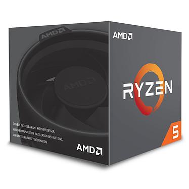AMD Ryzen 5 2600 Wraith Stealth Edition (3.4 GHz) avec mise à jour BIOS Processeur 6-Core 12-Threads socket AM4 Cache L3 16 Mo 0.012 micron TDP 65W avec système de refroidissement (version boîte - garantie constructeur 3 ans)