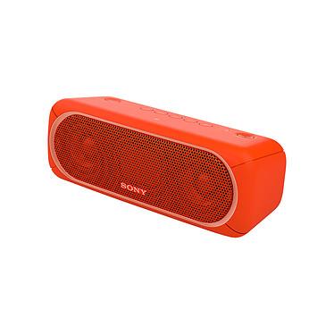 Sony SRS-XB30 Rouge Enceinte portable sans fil, éclairage multicolore, IPX5, Extra Bass, NFC et Bluetooth
