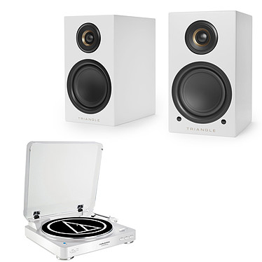Audio-Technica AT-LP60BT Blanc + Triangle Elara LN01A Blanc mat