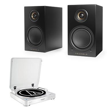 Audio-Technica AT-LP60BT Blanc + Triangle Elara LN01A Noir mat