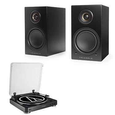 Audio-Technica AT-LP60BT Noir + Triangle Elara LN01A Noir mat