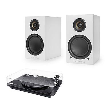 Elipson Omega 100 RIAA BT Noir + Triangle Elara LN01A Blanc mat