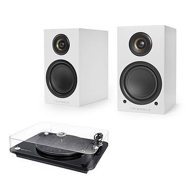 Elipson Omega 100 RIAA Noir + Triangle Elara LN01A Blanc mat