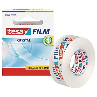 tesa Film Crystal 1 rouleau 33m x 19mm Ruban adhésif en polypropylène transparent 33m x 19mm