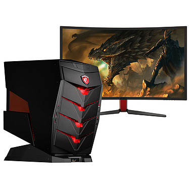 MSI Aegis X-038EU + Ecran MSI Optix G27C OFFERT ! Intel Core i7-6700K 16 Go SSD 256 Go + HDD 2 To NVIDIA GeForce GTX 1070 Graveur DVD Wi-Fi AC/Bluetooth Windows 10 Famille 64 bits