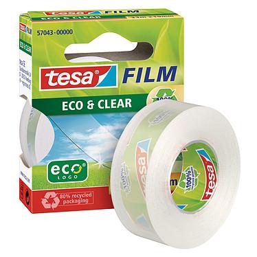 tesa Tesafilm Eco&Clear 1 rouleau 33m x 19mm Ruban adhésif en plastique recyclé transparent 33m x 19mm