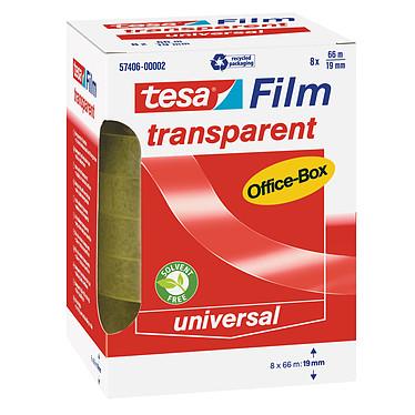 tesa tesafilm transparent 8 rouleaux 66m x 19mm